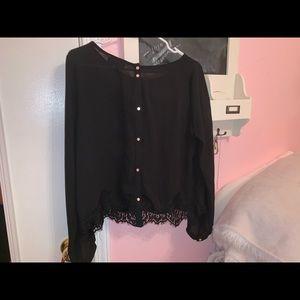 Back long sleeve blouse